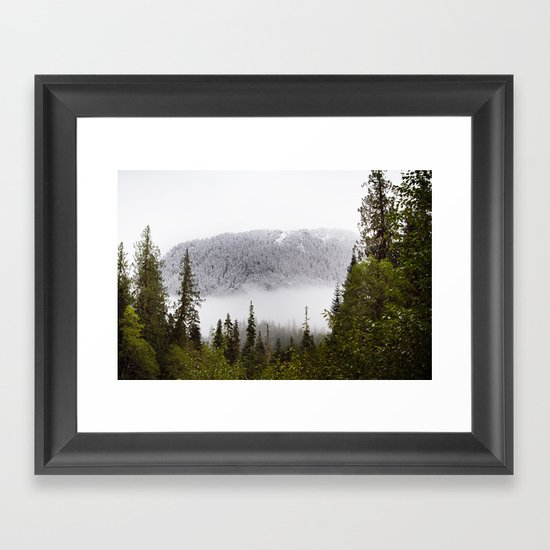 Way up there. Framed Art Print