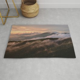 Clearing Storm, Craggy Gardens along Blue Ridge Parkway Rug