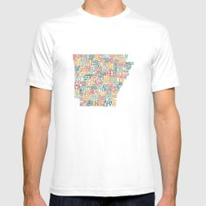 Arkansas by County White Mens Fitted Tee SMALL