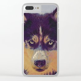 Husky I Clear iPhone Case