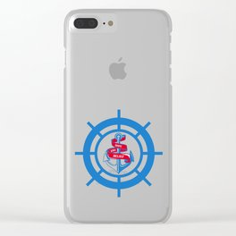 Anchor and steering wheel Clear iPhone Case