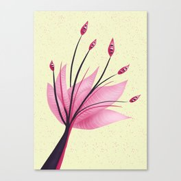 Pink Abstract Water Lily Flower Canvas Print