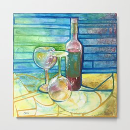 Red Wine Metal Print
