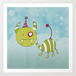 Party-Animal in Bubbles Art Print