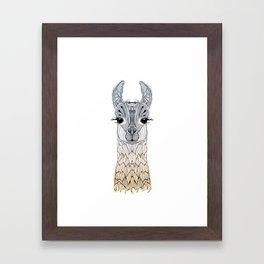BABY LAMA (CRIA) Framed Art Print