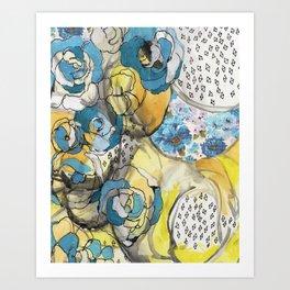 the blues...remix Art Print