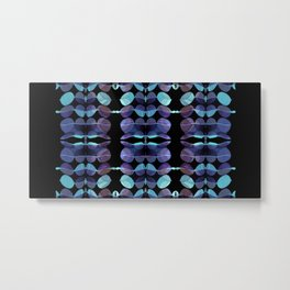 """Retro Blue Abstract painting"" Metal Print"