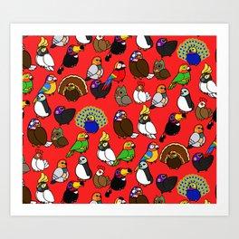 Lucha Birds Art Print