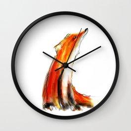 Wise Fox Reverse Wall Clock