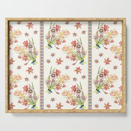Chinoiserie Chintz Columns (cream) Serving Tray