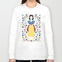 snow white Long Sleeve T-shirts featuring Snow White  by Carly Watts