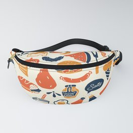 Cool, Fun & Colorful Retro Diner Pattern Fanny Pack