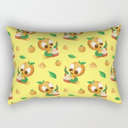 Orange Bird Citrus Swirl Rectangular Pillow