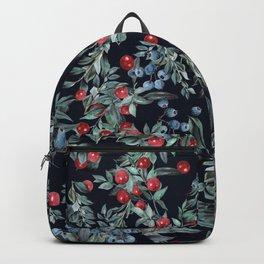 Festive Christmas Berries Pattern Backpack