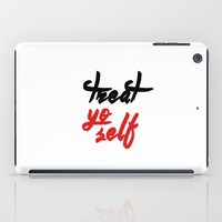 treat yo self iPad Cases featuring Treat yo self by amyskhaleesi