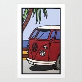 Beach Chil Art Print