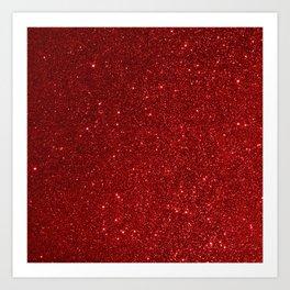Garnet January Aquarius Birthstone Shimmering Glitter Art Print
