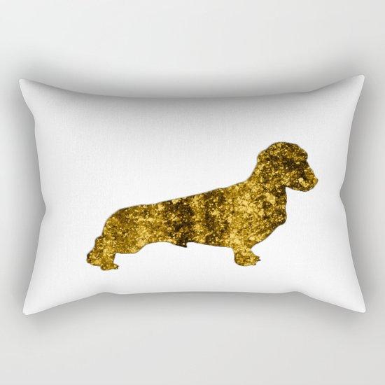 I LOVE my Dachshund I - Luxury glitter dog design Rectangular Pillow