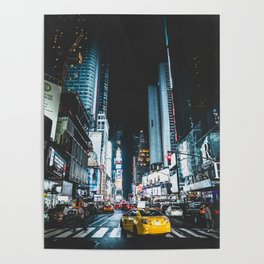 New York city night Poster