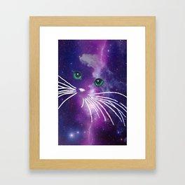 GALAXY CATGALAXY CATGALAXY CATGALAXY CAT Framed Art Print