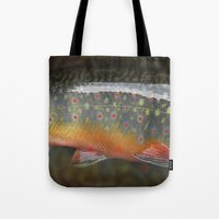 trout Tote Bags featuring Trout by sorshag