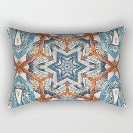 Abstract Geometric Structures Rectangular Pillow