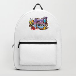 Hiphop Dancer Graffiti Artist Typography 13th Birthday Hip Hop Urban Wall Mural Street Art Backpack