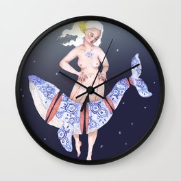Judy and the Tattooed Whale Wall Clock