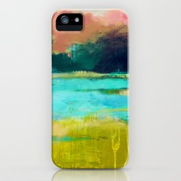 Lime and Turquoise iPhone Case