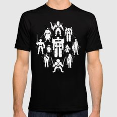 Plastic Heroes Black Mens Fitted Tee X-LARGE