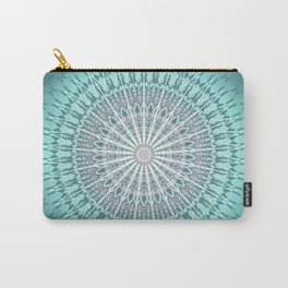 Teal Mandala Medallion Carry-All Pouch