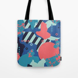 Vivid Collaged Geometric Tribal Abstract Geo Native Tote Bag
