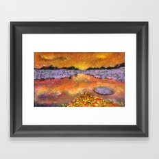Orange Twilight Framed Art Print