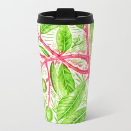 Branch of a Strawberry tree in Summer Travel Mug