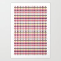 plaid Art Prints featuring Plaid by Livia Rett