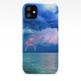 Majestic Rain Pink Lightning iPhone Case