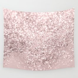 Blush Glitter Dream #1 #shiny #decor #art #society6 Wall Tapestry