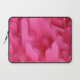 Abstract Shapes in Pink Laptop Sleeve