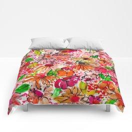 Wildflower Red Comforters