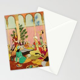 King Agib by Rudolf Koivu Stationery Cards