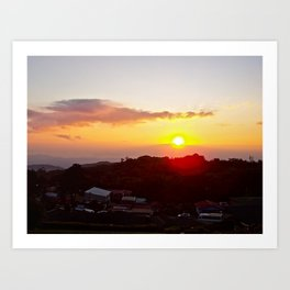 Sunset on the Slum Art Print