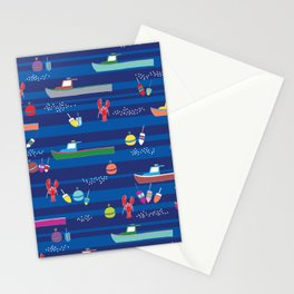 Lobster Boats Stationery Cards