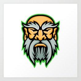 Cronus Greek God Mascot Art Print