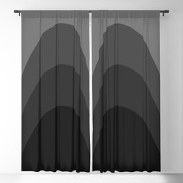 Four Shades of Black Curved Blackout Curtain