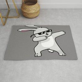 Dabbing Easter Bunny Rug