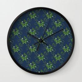 Art Deco Kanzashi Blooms Bouquet Wall Clock