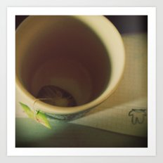 The infinite sadness of the empty cup of tea, 1 Art Print