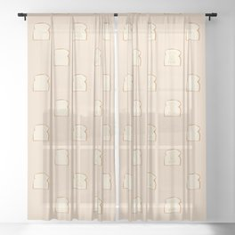 """""""Let's Get This Bread"""" Sheer Curtain"""