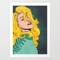popart Art Prints featuring Blond popart by Kate