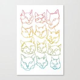 Contour Cats Canvas Print